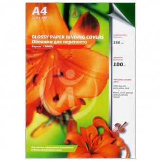 Обложки для переплета картонные, текстура: глянец, 250г/м2, А4, зеленый