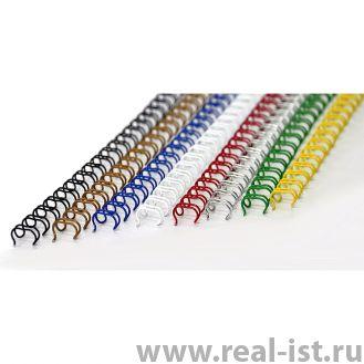 Пружины металлические, А4, 6,4мм (1/4), желтые, 100 шт. в упаковке