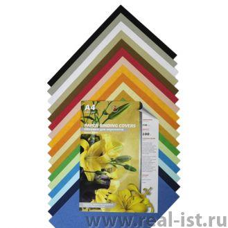 Обложки для переплета картонные, текстура: кожа, 230г/м2, А4, коричневый