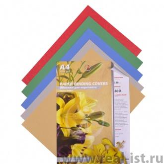 Обложки для переплета картонные, текстура: кожа, 230г/м2, А4, красный CR