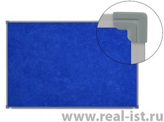 Доска настенная,100х60см, текстильная, ст/п, синяя