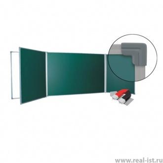 Доска настенная, 120х400см, пяти-элементная, мел/маркер, ст/п